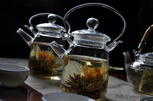 having lotus tea next to yu yuan garden