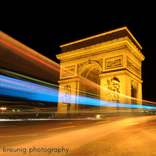 arc de triomphe @ night