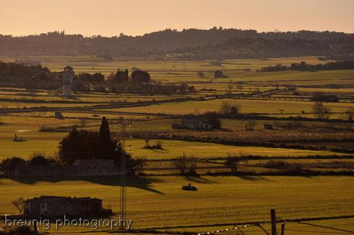 mallorca inland at sunset