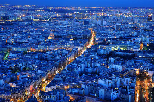 on top of tour montparnasse VII - blue hour