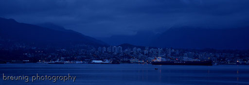 northern vancouver at night