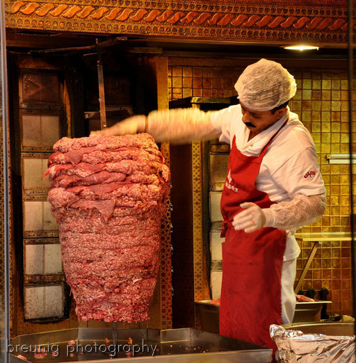 day 5: preparing döner kebab @ istikal caddesi