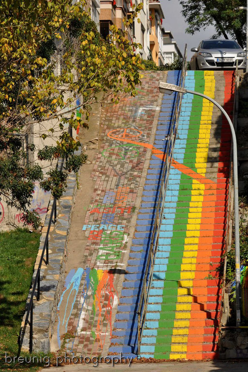 istanbul's rainbow stairs