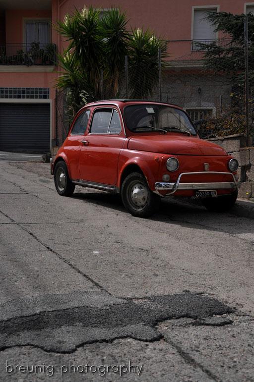 red vehicle I