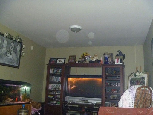 Photo avec orbes qui nous a été envoyé par la famille avant l'enquête.
