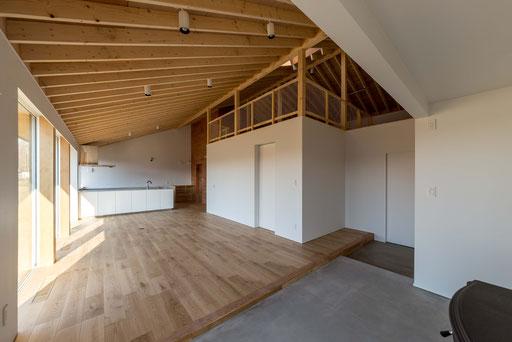 【十勝幕別町】 屋根型になった天井