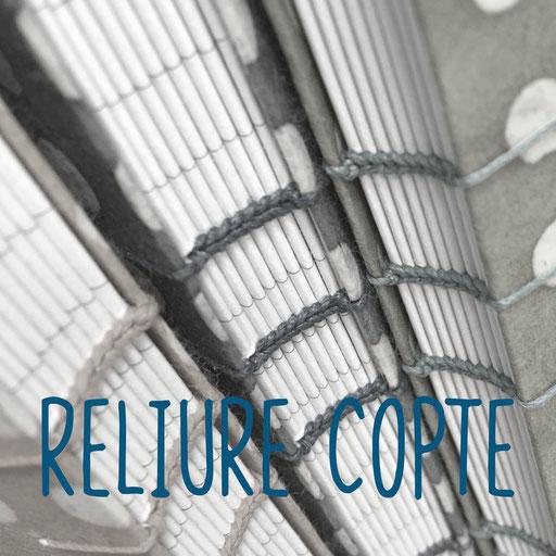 reliure copte, création reliure cousue Marie Donnot, atelier idéEphémère, 64260 Bielle
