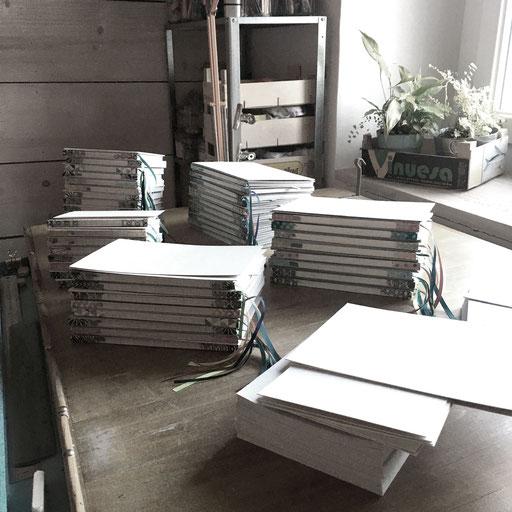 atelier de reliure, atelier idéephémère, 64260 Bielle