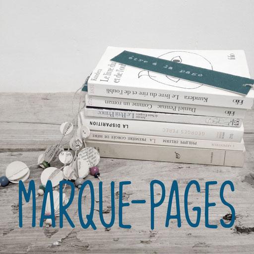 marque-pages, création reliure cousue Marie Donnot, atelier idéEphémère, 64260 Bielle