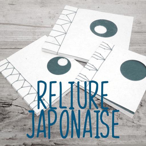 reliure japonaise, création reliure cousue Marie Donnot, atelier idéEphémère, 64260 Bielle