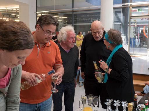 Finissage: Robert Bosshard (Filmer und Schriftsteller) und Urs Jaeggi (Schriftsteller und bildender Künstler) im Gespräch mit Doro Hülder