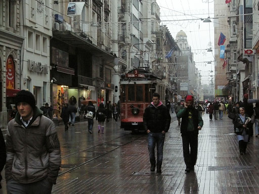 Beyoglu, historische Straßenbahn