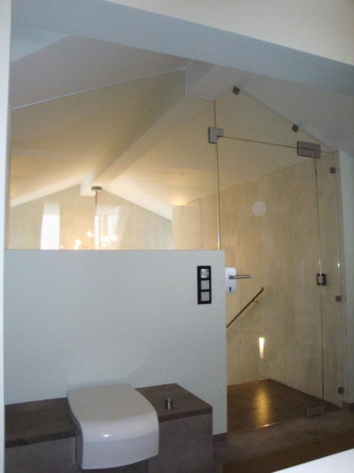 Glasabtrennung - Ganzglasanlage - © Glaserei Allgäuer