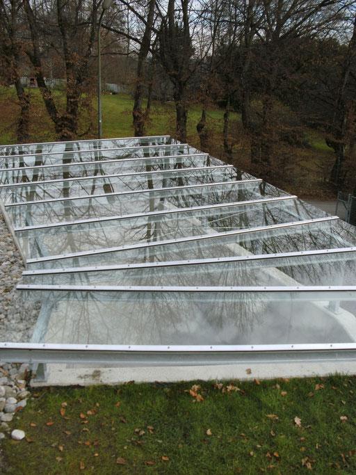 Glasdach - Tiefgaragenüberdachung  - © Glaserei Allgäuer