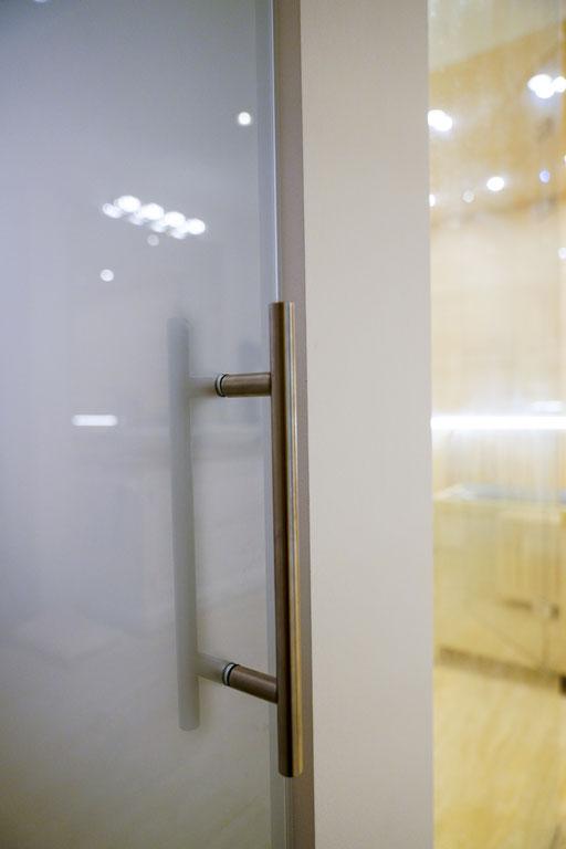 Glastürgriff, Drehtüre - © Glaserei Allgäuer