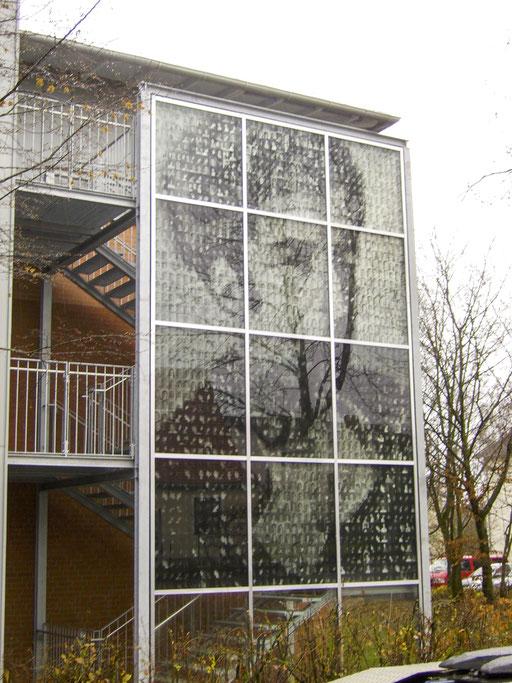 Glasfassade  - Pfosten-Riegel-Fassade - Kunstverglasung - © Glaserei Allgäuer