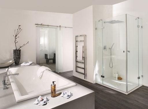 Glasschiebetüre - Duschverglasung - © Pauli und Sohn Beschlag