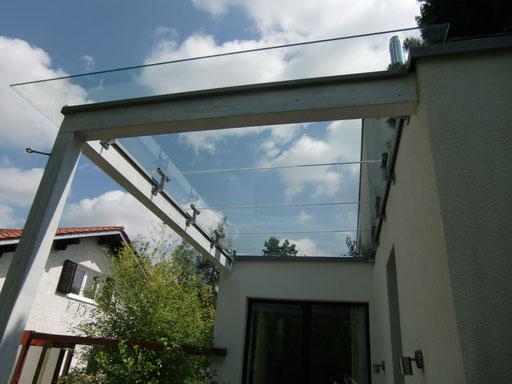 Glasdach - Punkthalter - © Glaserei Allgäuer