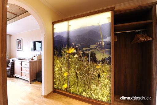 Digitaldruck auf Glas - Drehtüren - Schranktüren - © Lang u. Lang