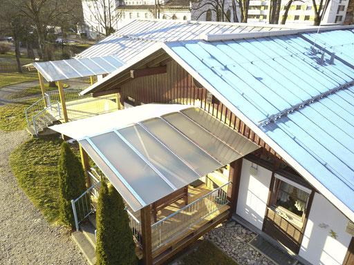 Glasdach - Terrassenüberdachung - Pergolaüberdachung - © Glaserei Allgäuer