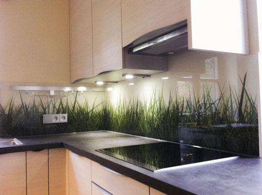Digitaldruck - Glasrückwand - Küchenrückwand - © Glaserei Allgäuer