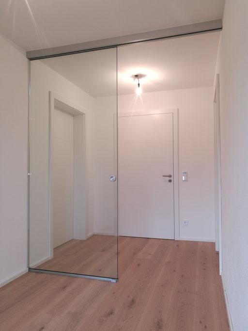 Glasschiebetüre - 1-flg mit Festteil - © Glaserei Allgäuer