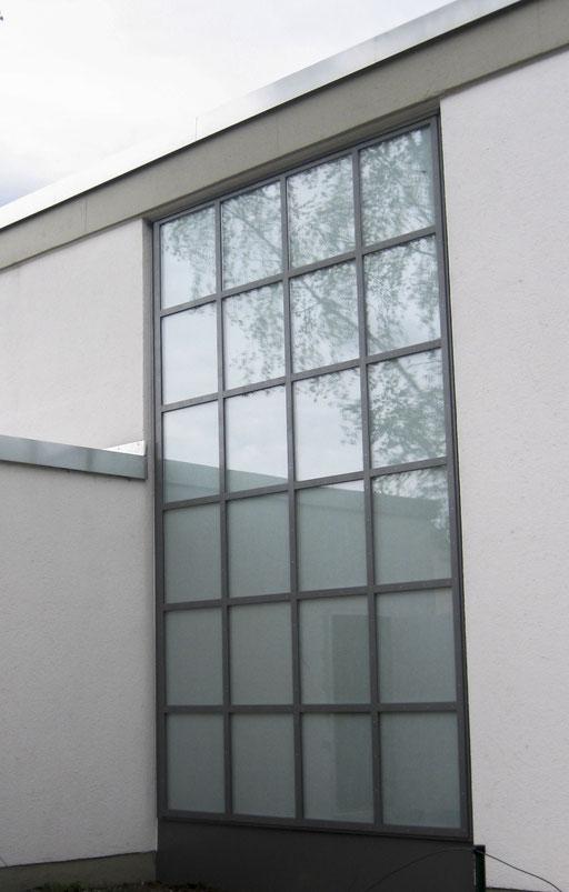 Glasfassade  - Pfosten-Riegel-Fassade - © Glaserei Allgäuer