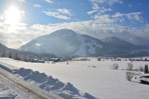 Blick zum Skigebiet Unterbert