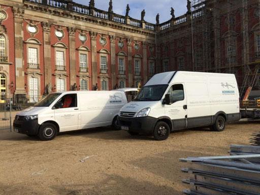 Erschließungsarbeiten am neuen Palais in Potsdam