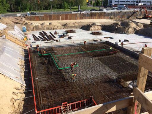 Grundleitungsbau für das Blu Freizeitbad in Potsdam