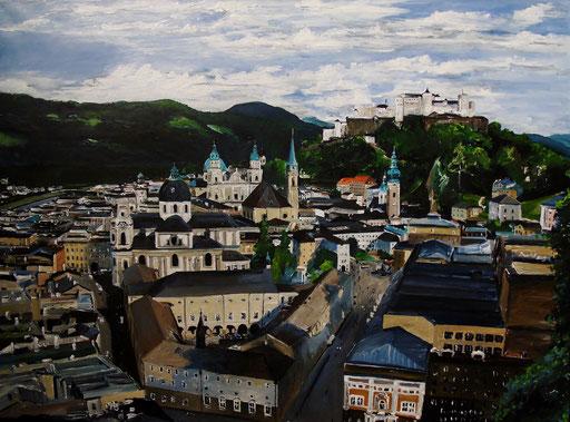 Salzburg, Blick auf die Altstadt, 80x60cm, 2013 (verk.)