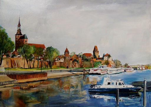 Tangermünde, Hafen, 70x50cm, 2012