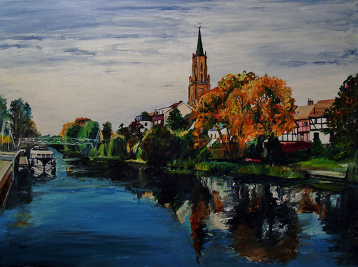 Alter Hafen, Rathenow, 80x60 cm, 2016 (verk.)