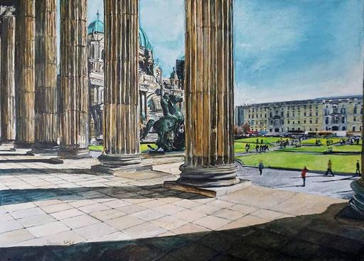 Säulenhalle des Alten Museums, Berlin, 70x50 cm, 2020