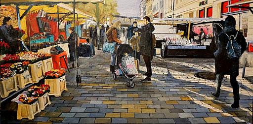 Hackescher Markt, Berlin-Mitte, 100x50 cm, 2018