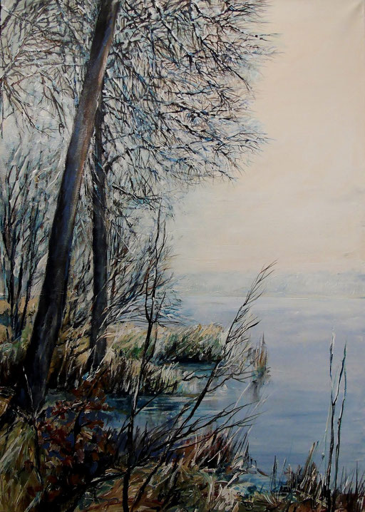 Rathenow, Wolzensee, Winter, 50x70cm, 2013