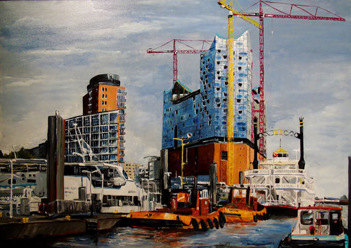 Hamburg, Elbphilharmonie, 100x70, 2012 (verk.)