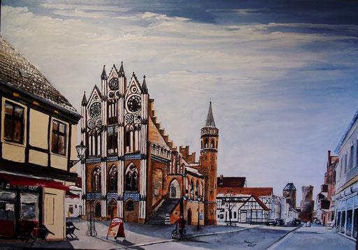 Das Rathaus von Tangermünde, 100x70cm, 2015