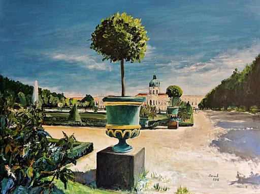Park und Schloss Charlottenburg, 80x60 cm, 2018