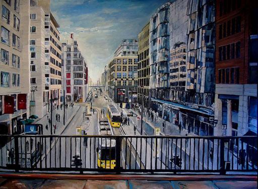 Über der Friedrichstraße, 120x90 cm, 2016 (verk.)