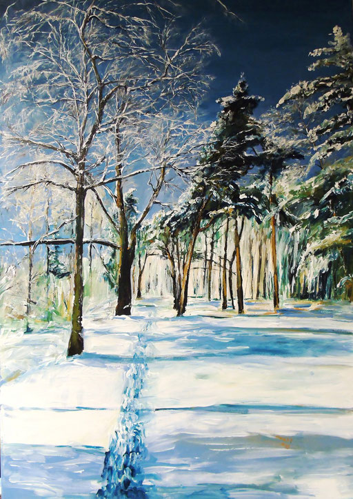 Rathenow, am Wolzensee, Winter, 70x100cm, 2013