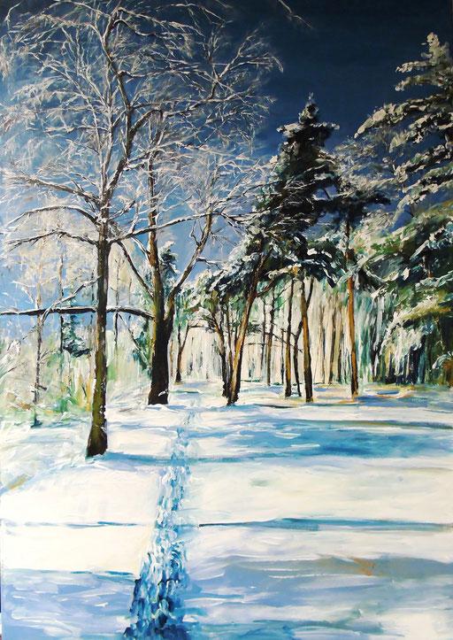 Rathenow, am Wolzensee, Winter, 70x100cm, 2013
