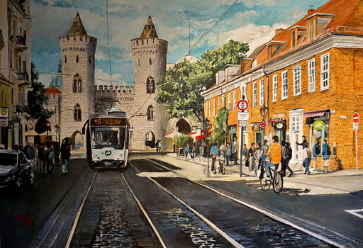 Nauener Tor, Friedrich-Ebert-Str., Potsdam, 100x70 cm, 2018 (verk.)