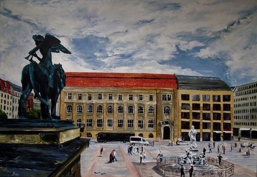 Gendarmenmarkt, Blick vom Konzerthaus auf den Platz, 100x70cm, 2012