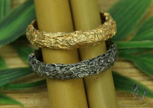Ring Rosegold und Silber