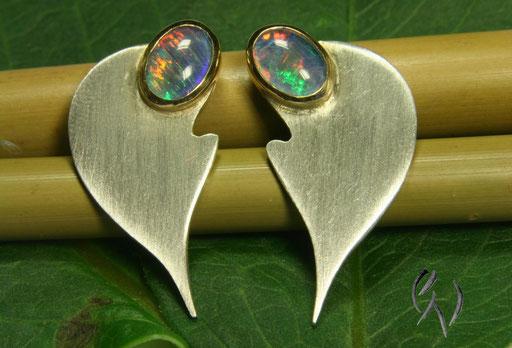 Ohrstecker Silber mit Opal
