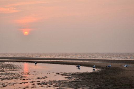 Immer wieder beliebt: Sonnenuntergang am Meer.