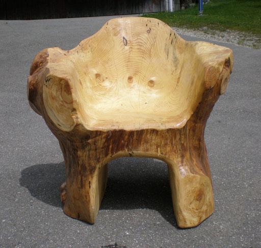 Massivholz Sessel Stuhl  aus Fichtenholz