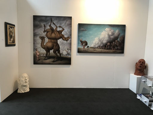 Art Karlsruhe 2018, Stand  H3/F 14 der Galerie KK, Wand Bruno Pontiroli
