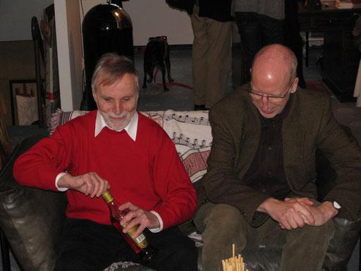 Mit Johannes Heisig 2009 in der Galerie KK
